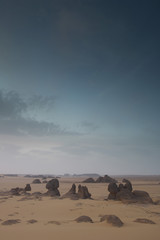 Desert landscape with boulders