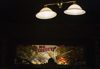 Illuminated sign in bar