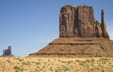 USA, Arizona, Mitten Butte at Monument Valley