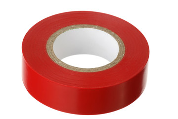 Red adhesive insulating tape