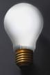 Light bulb on black background, close-up