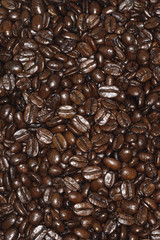 Close-up on coffee beans, full frame