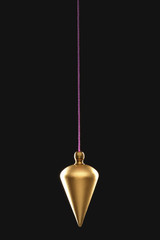 Pendulum on string, black background