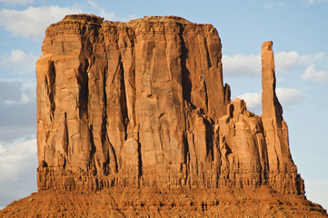 Close up of monument valley during the day.