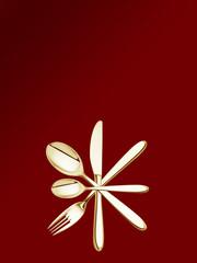 goldener Stern aus Besteck