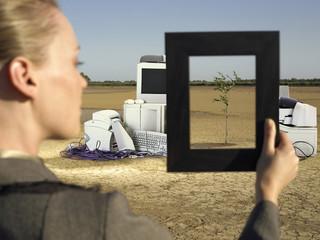 Woman in Landfill