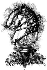 Horse Tech Illustration