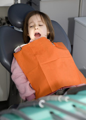 little girl by dentist