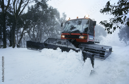 Snow clearing tractor, Mt Baw Baw, Victoria, Australia
