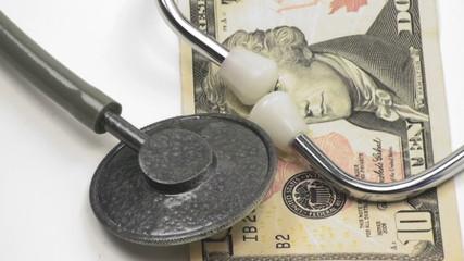 1080 Economic health, rising medical costs, concepts.