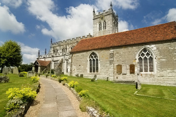 Ancient 8th Century Saxon Church in England