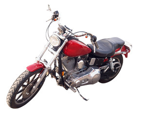 Red Motorbike isolated with clipping path