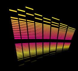 Colorful bars reflection