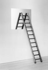 Ladder straddling window