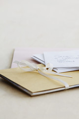 Letters and paper stationery, studio shot