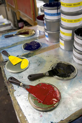 Imprimerie palette de couleurs 6