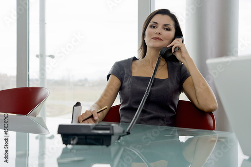 Professional woman on telephone