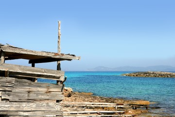 Formentera island near Ibiza in Mediterranean