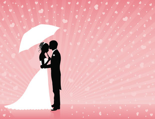 Pink wedding background.