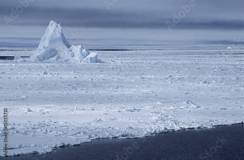 antarctica weddell sea iceberg in ice field