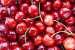 Fresh cherries background