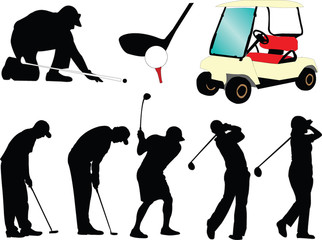 golf collection - vector