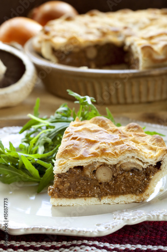 Mushroom and Meat Pie