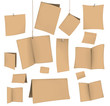 set of blank recycled paper cards