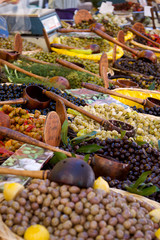 Olives on a Market Stall