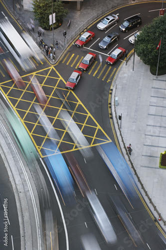 Traffic in Hong Kong blurred motion