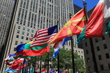International Flags of the world in new york city
