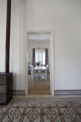 Cyprus, view into dining room from hall of 1950's town house
