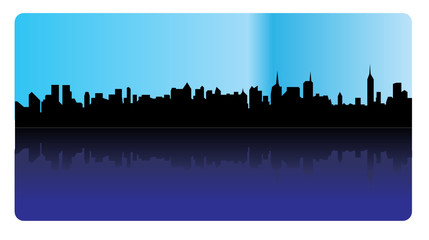 Silhouette of a skyline - vector
