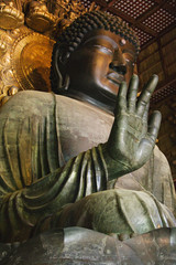 Japan, Nara, Todai-ji Temple, Daibutsu starue