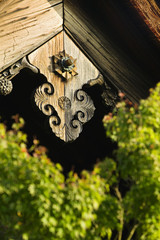 Japan, Kyoto, Tenryuji Temple architectural detail, close-up