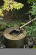 Japan, Kyoto, Ryoan-ji Temple, stone water basin