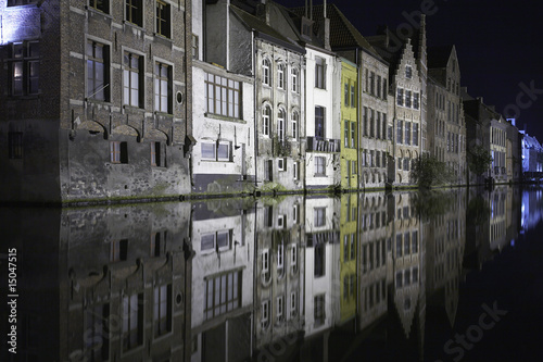 belgium east flanders ghent at night
