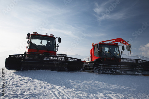 Snow plows in mountains