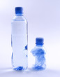 Goldplastic drinking water bottles