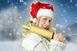 brav gewesen? twinkling miss santa