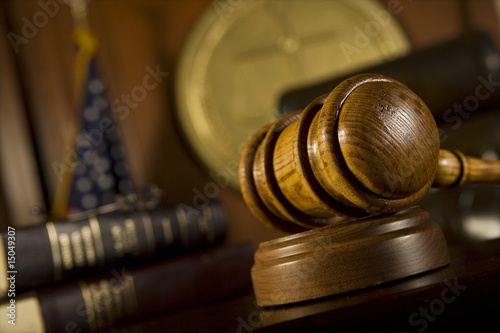 Gavel in court room