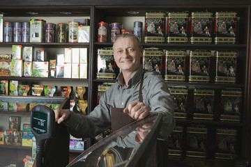 Tea Shop Owner in Store