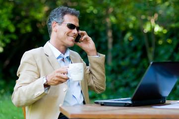 Modern businessman outdoor