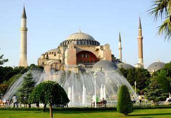 Hagia sophia mosque - church view