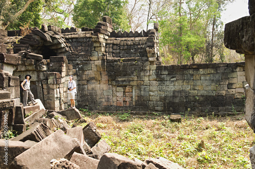 Couple in Ancient Stone Temple
