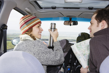 Young Couple on a Road Trip