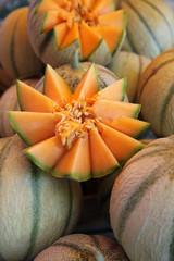 Melons au marché