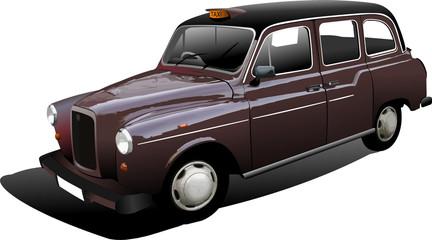 London taxicab. Vector illustration
