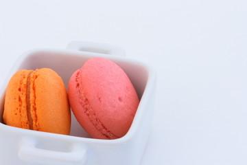 Macarons rose-orange