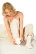 Young woman wearing sock